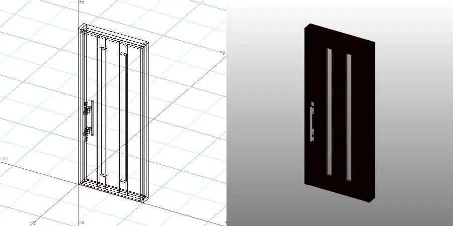 formZ 3D 建築 扉 door 玄関ドア 1024 片開き entrance