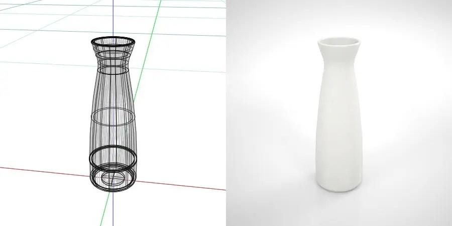 無料,商用可能,フリー素材,formZ,3D,インテリア,interior,食器,tableware,sake pitcher,とっくり,白い2合の徳利