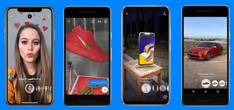 AR Camera Effects for Instagram realité augmenté