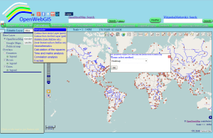 Figure 1 - Interpolation pop-up window in OpenWebGIS interface