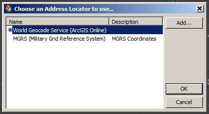 Choose a Geocoder