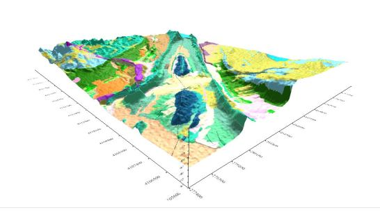 Virgin Anticline map with topography.