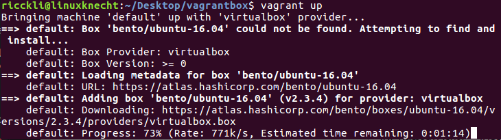 vagrant local machine setup