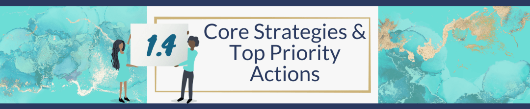 1.4 Core Strategies & Top Priority Actions