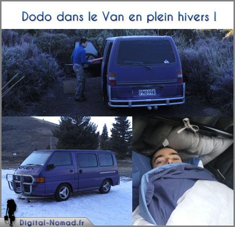 Dormir dans le van