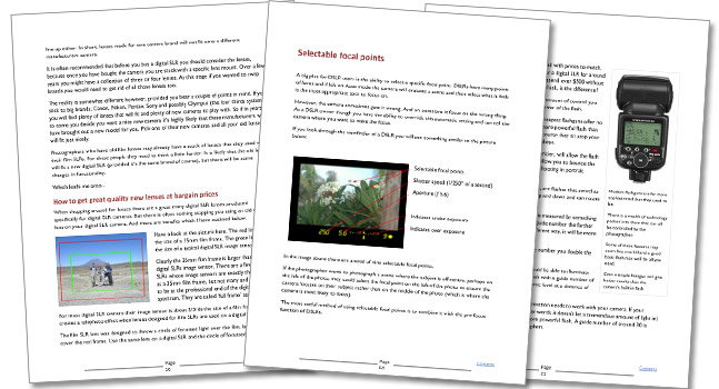 The Complete Digital SLR Guide - The Ultimate Guide For Digital Photographers more sample pages