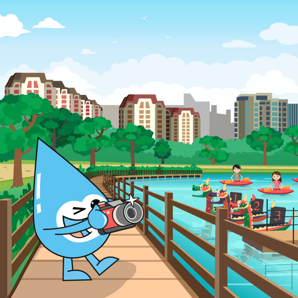 Illustration for PUB SG Water Wally - Creative Services