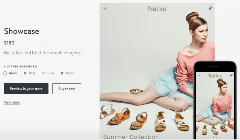Shopify được thiết kế phù hợp cho ngành thời trang