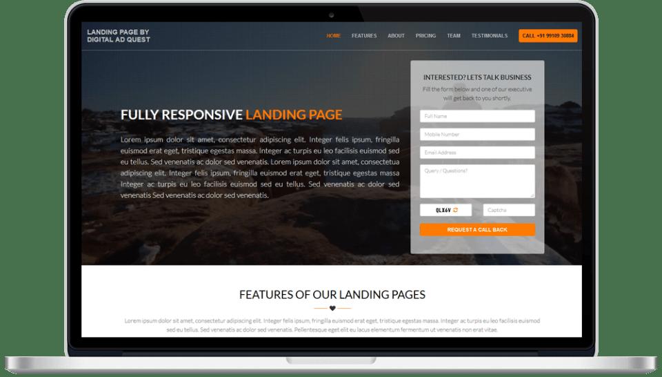Landing Page Designing Services in Delhi India