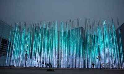 "Interactive ""bamboo"" installation"