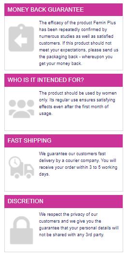 Femin Plus Shipping Details