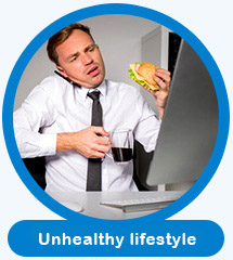 Unhealthy eating habits can cause Male sexual dysfunction