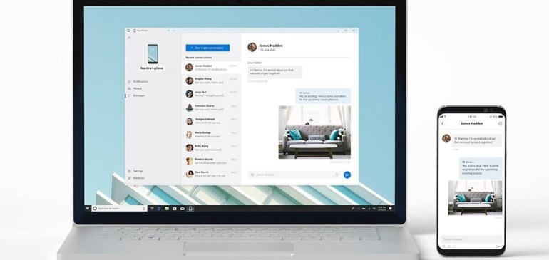 Microsoft's upcoming 'Your Phone' app will let you mirror your smartphone's display on your Windows 10 PC