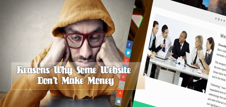 Reasons Why Some Websites Don't Make Money