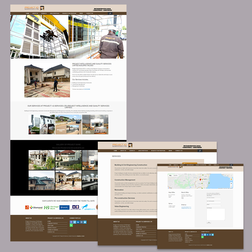 Website Development for Project-IQ Services Limited