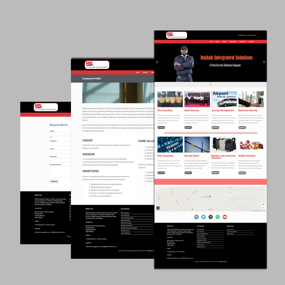 Website Design and Development for Daliah Integrated Solutions