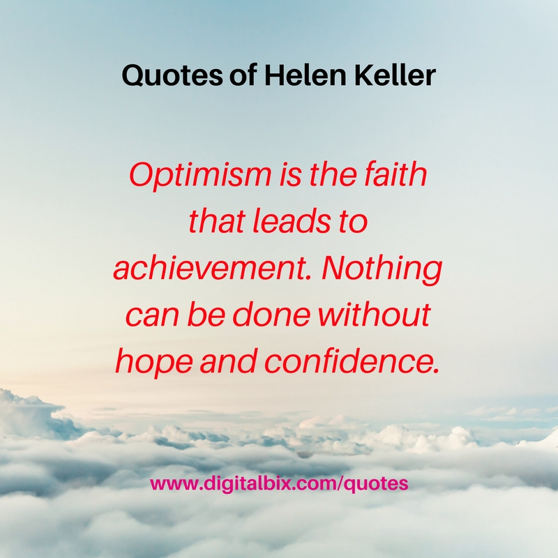 Quotes of Helen Keller