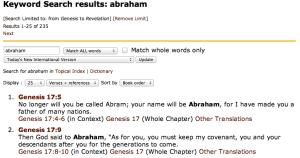 Bible Gateway Keyword Search