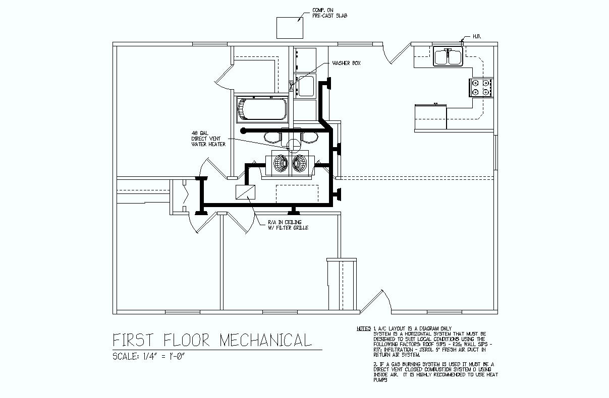 Black And White Electrical Plan With Key