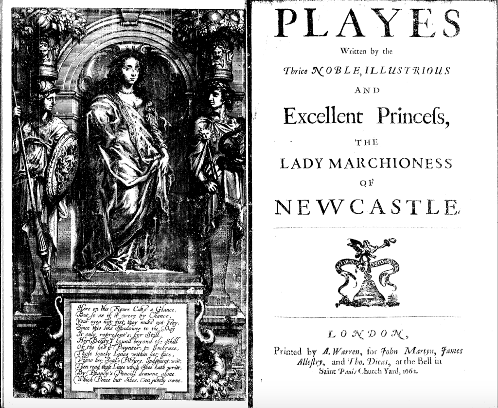 Playes 1662 with frontispiece on left and title page on the right.