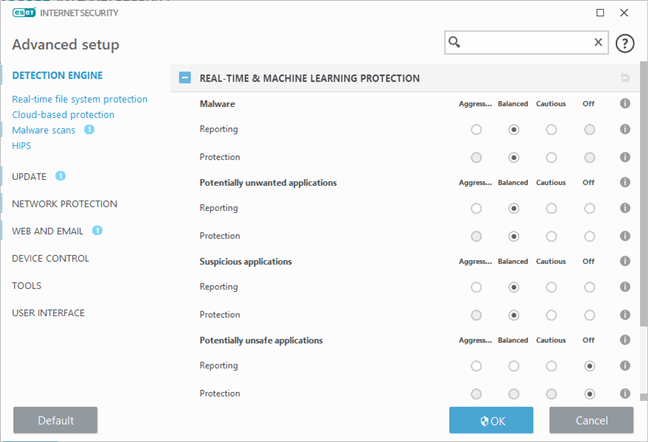 ESET Internet Security: Real-Time & Machine Learning Protection