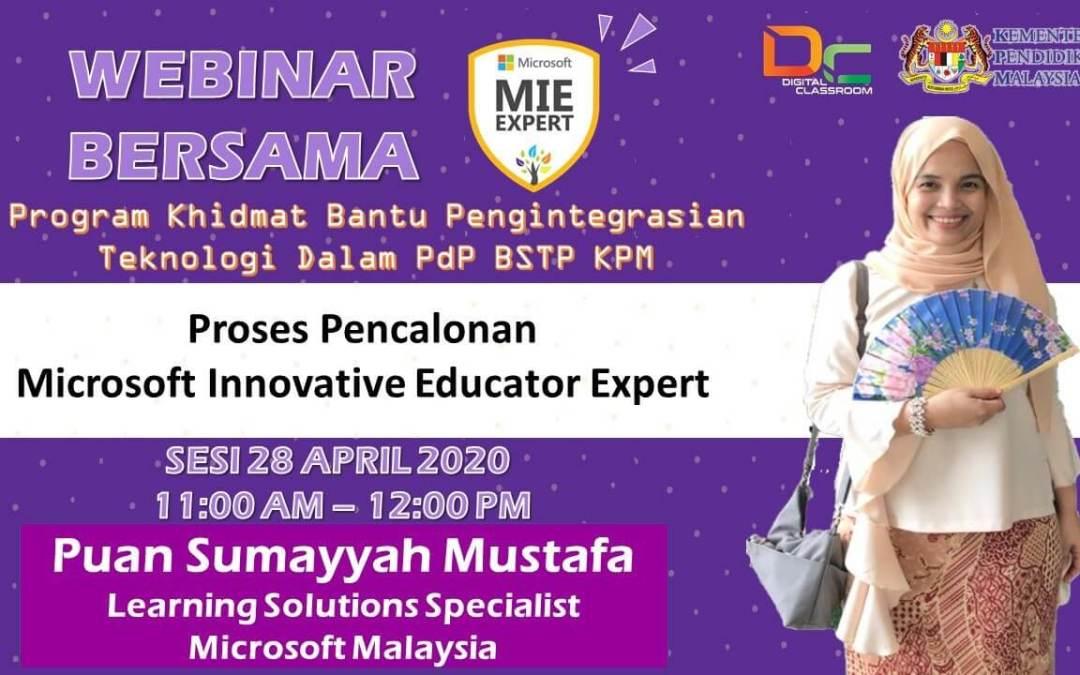 Proses Pencalonan Microsoft Innovative Education Expert