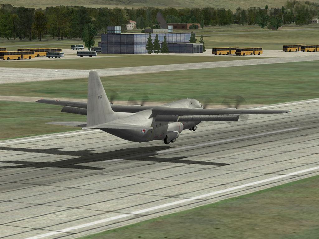 C-130 cross-wind landing