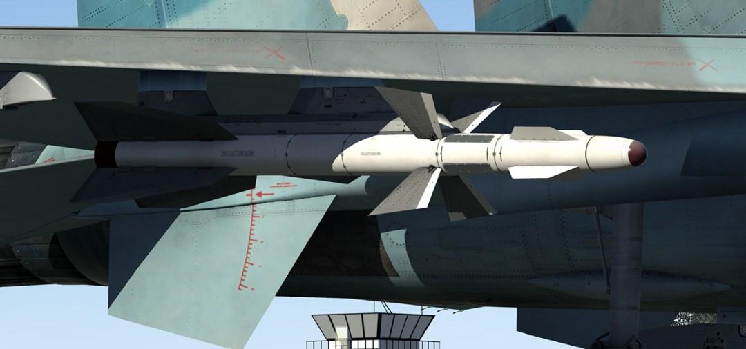 2 x R-27T IR air-to-air missiles