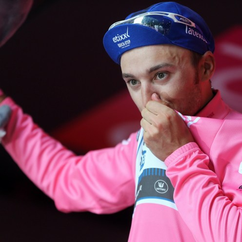 Arezzo - Italy - wielrennen - cycling - radsport - cyclisme - Gianluca Brambilla (Etixx - Quick Step) pictured during stage 8 of the 99th Giro d'Italia 2016 from Foligno - Arezzo 186 km - foto LB/RB/Cor Vos © 2016