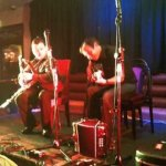 Darragh Ó Héiligh on Uilleann pipes and Tim Edey on Guitar in the Harcourt hotel