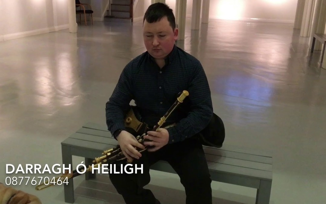 Solo tunes on the uilleann pipes in the Highlanes, Drogheda.