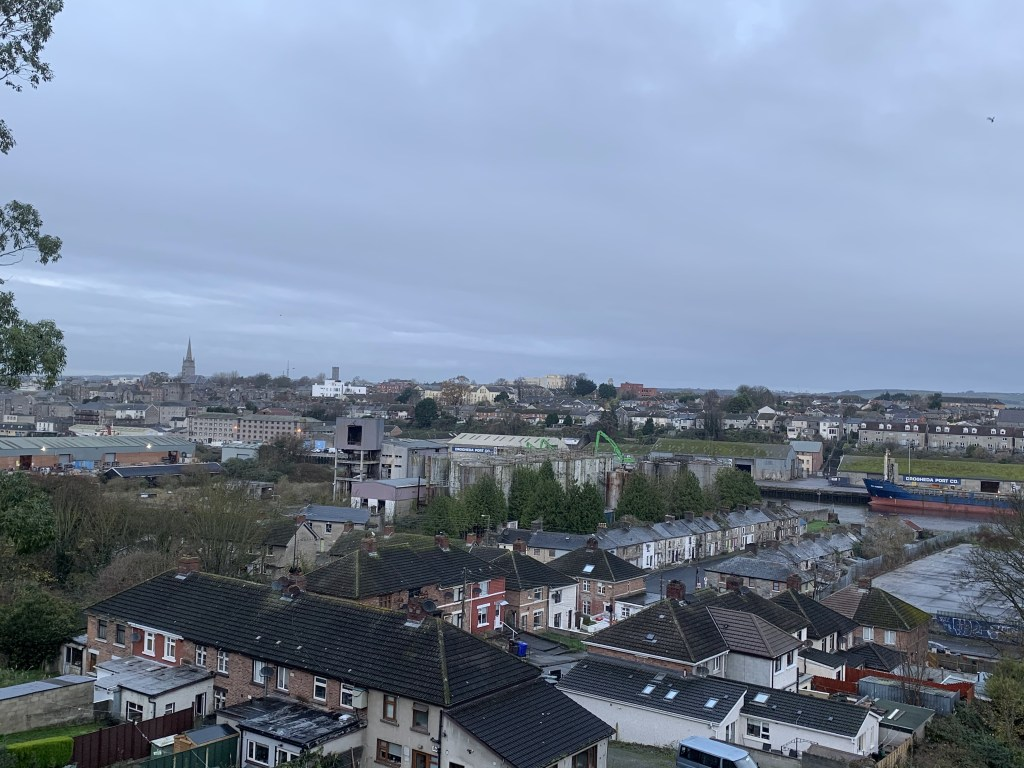 Picture taken from the new steps at the train station in Drogheda.