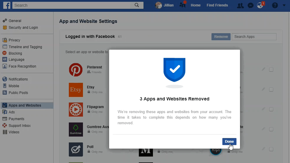 Facebok Privacy: Who has access to my Facebook profile - done