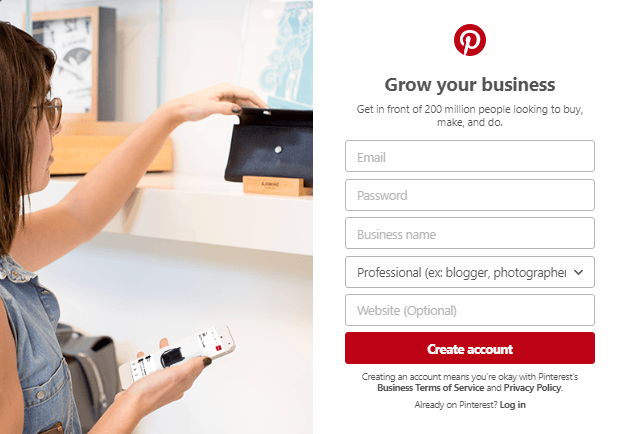 Sign Up for a Pinterest Business Account