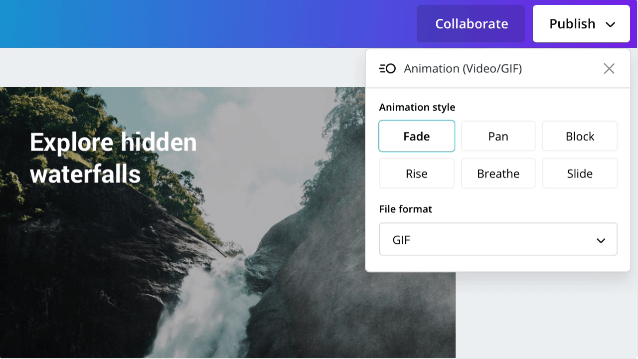 New in Canva 2.0: Improved Animator