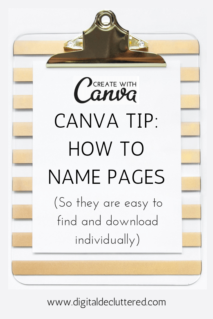 How to download a single page in canva by adding page names