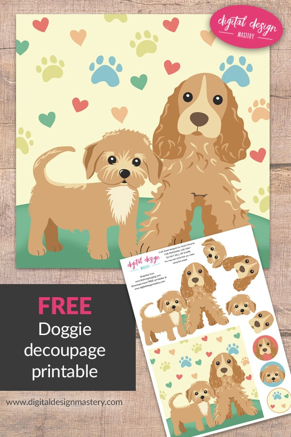 Create a Cute Dog Handmade Card with this Printable