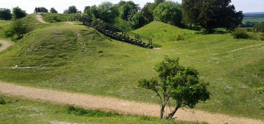 Danebury Ring Hillfort - 'Command Centre'.