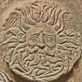Gorgon/Gordon/Oceanus discovered at the Roman Baths at Bath. Image courtesy of Brian Snelson.