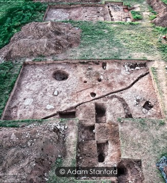 The excavation site, Dorstone, Herefordshire.