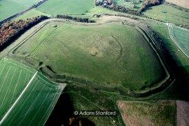 Scratchbury Camp, Wiltshire - aerial view. © Adam Stanford