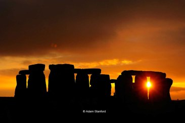 Stonehenge - Orange Sunset - © Adam Stanford