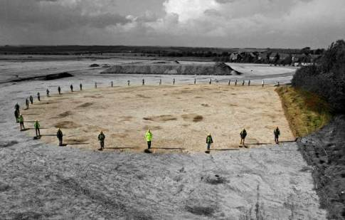 Image 1 - Wessex Archaeology excavating a large timber/pit circle at Boscombe Down. Image courtesy of Wessex Archaeology.