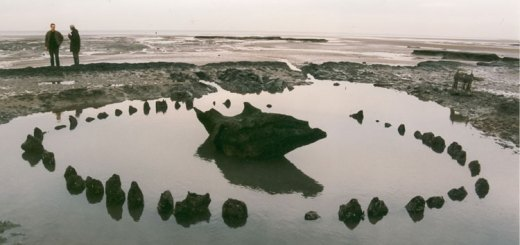 Image 2 - Holme next to the Sea timber circle (better known as 'Sea Henge'), exposed at low tide in 1998. Image used with kind permission of Duncan Stirk.