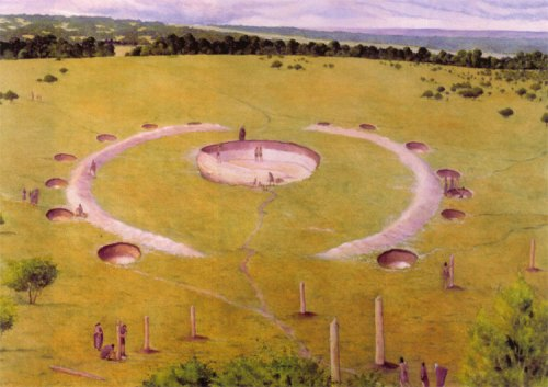 Image 3 - The Neolithic 'temple' as it may have appeared around 5,300 years ago. Image © Jane Brayne.