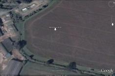 'Sunburst' timber circle pits, visible in Google Earth.