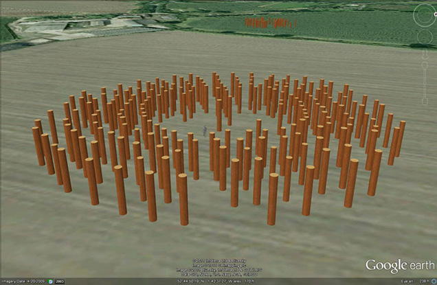 The Catholme 'Woodhenge' from above.