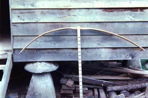 Fig. 7 - Tillering the bow.