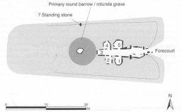 Notgrove Long Barrow plan. Image by Vanessa Constant.
