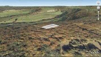Randwick Long Barrow position in Google Earth.